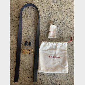 Salvatore Ferragamo Ceylon Reversible Leather Belt